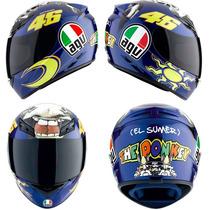 Casco Agv K3 The Donkey (burro) Moto Gp Valentino Rossi