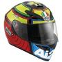 Casco Agv K-3 Sv Iannone Moto Gp Incluye Visera Smoke