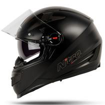 Casco Nitro N 2200 Matt Black Integral Doble Visor Fas Motos
