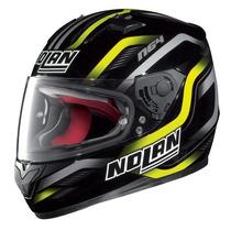 Casco Nolan Italiano N64 Fusion Negro Turismo Pista Moto Sur