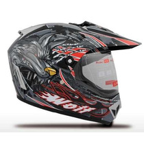 Casco V-can V370 Cross C/ Visor Enduro 2016 En Freeway Motos