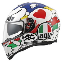 Casco Agv K-3 Sv Comic Moto Gp Incluye Visera Smoke