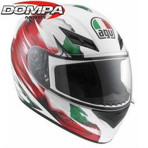 Casco Agv K3 Italy Flag Integral Valentino Rossi Dompa