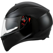Casco Agv K-3 Sv Black Mate Moto Gp Incluye Visera Smoke