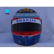 Casco Automovilismo Competicion Fernando Alonso 2004