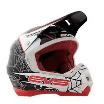 Casco Evs T5 Luchador Cross Fibra De Vidrio Moto Delta Tigre