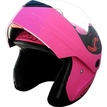 Casco Rebatible Rosa Okinoi Clasico 2015 En Freeway Motos!