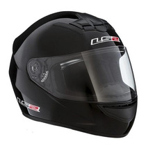 Casco Integral Ls2 Ff352 Single Mono Black Negro Brillo