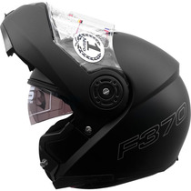 Casco Nitro Ff370 Negro Mate Rebatible Doble Visor Fas Motos