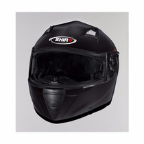 Casco Shiro Sh3700 Doble Visor Monocolor Black Urquiza Motos