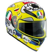 Casco Agv K3 Sv Groovy Nuevo Moto Gp Incluye Visera Smoke