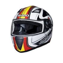 Casco Shiro Sh 3700 Jerez Visor Interno Negro Freeway Motos