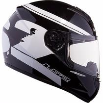Casco Ls2 Ff350 Fluo Black White Moto Delta Tigre