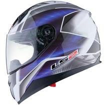 Casco Integral Ls2 Ff384 Saga Doble Visor Azul En Fas Motos