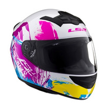 Casco Integral Ls2 Ff352 One Iris White Nuevo Modelo ! ! !