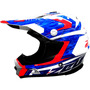 Casco Zeus Gj 901l White Blue Red Enduro Cross Atv Fas Motos