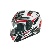 Casco Shiro Sh 715 Austin Red/black En Suzuka Motos