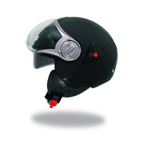 Casco Shiro Abierto Naked Black Sh80 Doble Visor Devotobikes