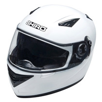 Casco Shiro Monocolor Sh830 Doble Visor Blanco Devotobikes