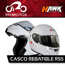 Casco Hawk Rs5 Rebatible. Oferta Blanco O Gris En Rh Motos