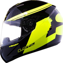 Casco Ls2 Ff350 Fluo Black Hi-vis Yellow Integral Fas Motos