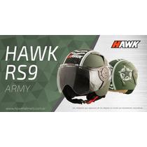 Casco Halcon Hawk Rs9 Abierto Vintage Retro Mejor$ Motodelta
