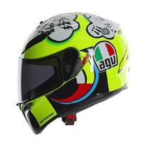 Casco Agv K3 Sv Misano Nuevo Moto Gp Incluye Visera Smoke