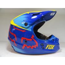 Casco Fox V1 Yellow/blue - Bondio Sport