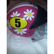 Casco Moto Mujer Htl Penélope Glamour / Pink Nuevo!!!