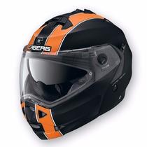 Casco Rebatible Doble Visor Caberg Duke Orange Urquiza Motos