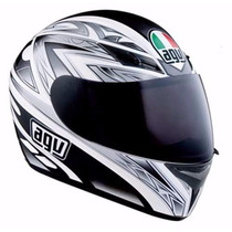 Casco Agv K3 Basic One White Black / White Red En Fas Motos