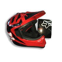 Combo Casco Fox Vf1 Rojo Y Guantes Mechanix - Mx Atv Utv