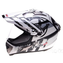 Casco Ls2 Mx433 Cross Con Visor Stripe With Devotobikes 2014