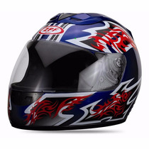 Casco Integral Zpf Azul Con Grafica En Freeway Motos!