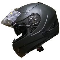 Casco Integral Zeus Gj 806 Negro Doble Visor Devotobikes