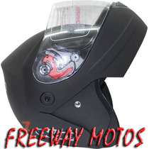 Casco Rebatible Okinoi Negro Clasico 2013 En Freeway Motos!