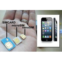 Micro Chips Sim Claro Movistar Personal Prepago Iphone Local