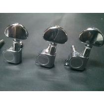 Clavijas Para Guitarra Electrica Tipo Grover 3+3 Jihno J03c