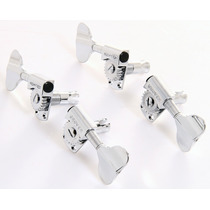 Grover 145c Bass Tuners - 2+2 - Chrome