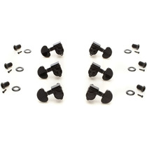 Grover Tip Lock Machine Head Tuners - Black, 3+3