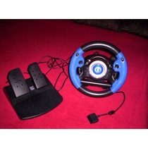 Volante C/palanca Pedalera Vibración Real Para Pc Ps2