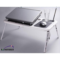 Mesa Base Porta Notebook O Netbook, Con Doble Cooler