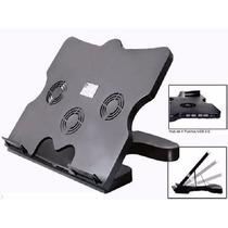 Cooler Pad Base 3 Cooler + 4 Usb Hub Notebook Ps3 Caseros
