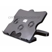 Base Cooler Para Notebook De 3 Ventiladores Altura Regulabe