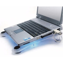 Base De Acrilico Porta Notebook Y Netbook Con Triple Cooler