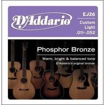 Pack 3 Encordados Daddario P/ Guitarra Acustica 011oferta