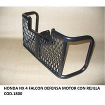 Honda Nx 4 Falcon Defensa De Motor Con Rejilla