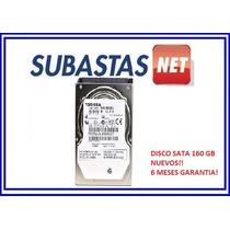 Disco Rigido 160 Gb Sata Toshiba Notebook Y Pc Nuevos!!!!