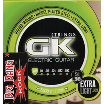 Encordado Guitarra Electrica Gk 009 Extra Light ( Doble 1°)