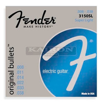 Encordado Fender Original Bullets 3150 Sl Super Light .008